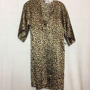 Gilligan & O'Malley Leopard Print Silky Coverup